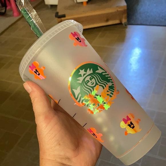 Starbucks Cup with Halloween vinyl wrap - NWOT